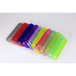 Wholesale S4 Jelly - 200 PCS LOT 2013 Single Side Frosted Gel Soft TPU crystal clear jelly cover case For SamSung Galaxy S4 MINI i9190