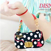 Wholesale Iphone5 Case Polka Dot - Mini Cute Polka dot chain Lady handbag soft Back silicone gel rubber bling leather Case Back Cover For iPhone 5 5S iPhone5 with Retail Pack