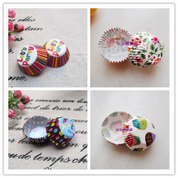 cake size cupcake Canada - Mini size Assorted Paper Cupcake Liners Muffin Cases Baking Cups cake cup cake mould decoration 2.5cm base