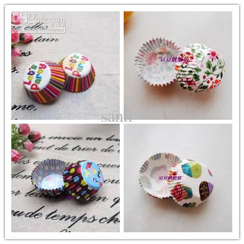 Mini size Assorted Paper Cupcake Liners Muffin Cases Baking Cups cake cup cake mould decoration 2.5cm base