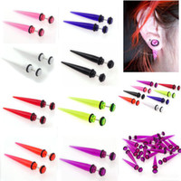 Wholesale Illusion Plugs - 80pcs lot 6-8MM Mix Illusion Ear Fake Cheater Stretcher Rivet Taper Plug Tunnel Gauges [BA27 BA46(80)]