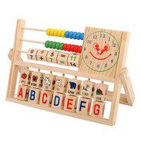Wholesale Alphabet For Learning - Education Toys Wood Block Baby Toys Multifunction Flap Calculation Shelf Toddler Learning Toys for Kids Children gift