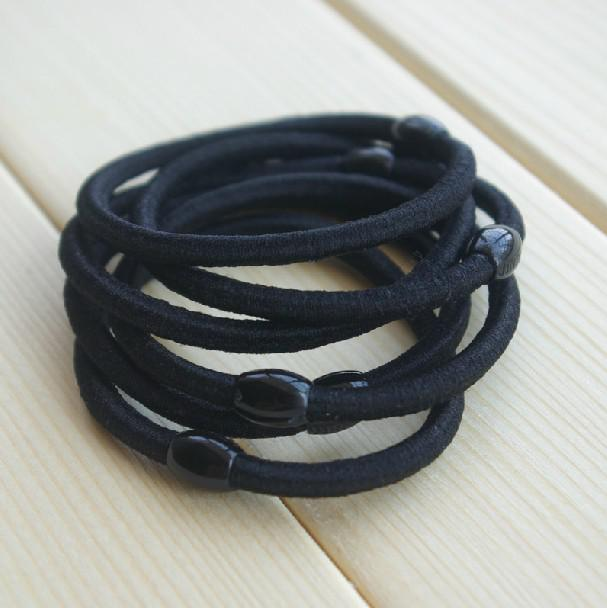 2019 100X Black Hair Ties  Hair Band   Elastic Hair Tie   Ponytailer 4mm  Width From Whitney b7832d3641e