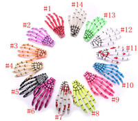 50Pcs Not Pairs Fashion Skeleton Claws Skull Hand Hairclip H...