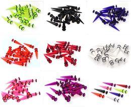 Wholesale Steel Ear Tapers - 40pcs lot FAKE CHEATER Gauge Ear Taper Plugs Expander Earrings Steel Shaft Free Shipping[BA46(40)]