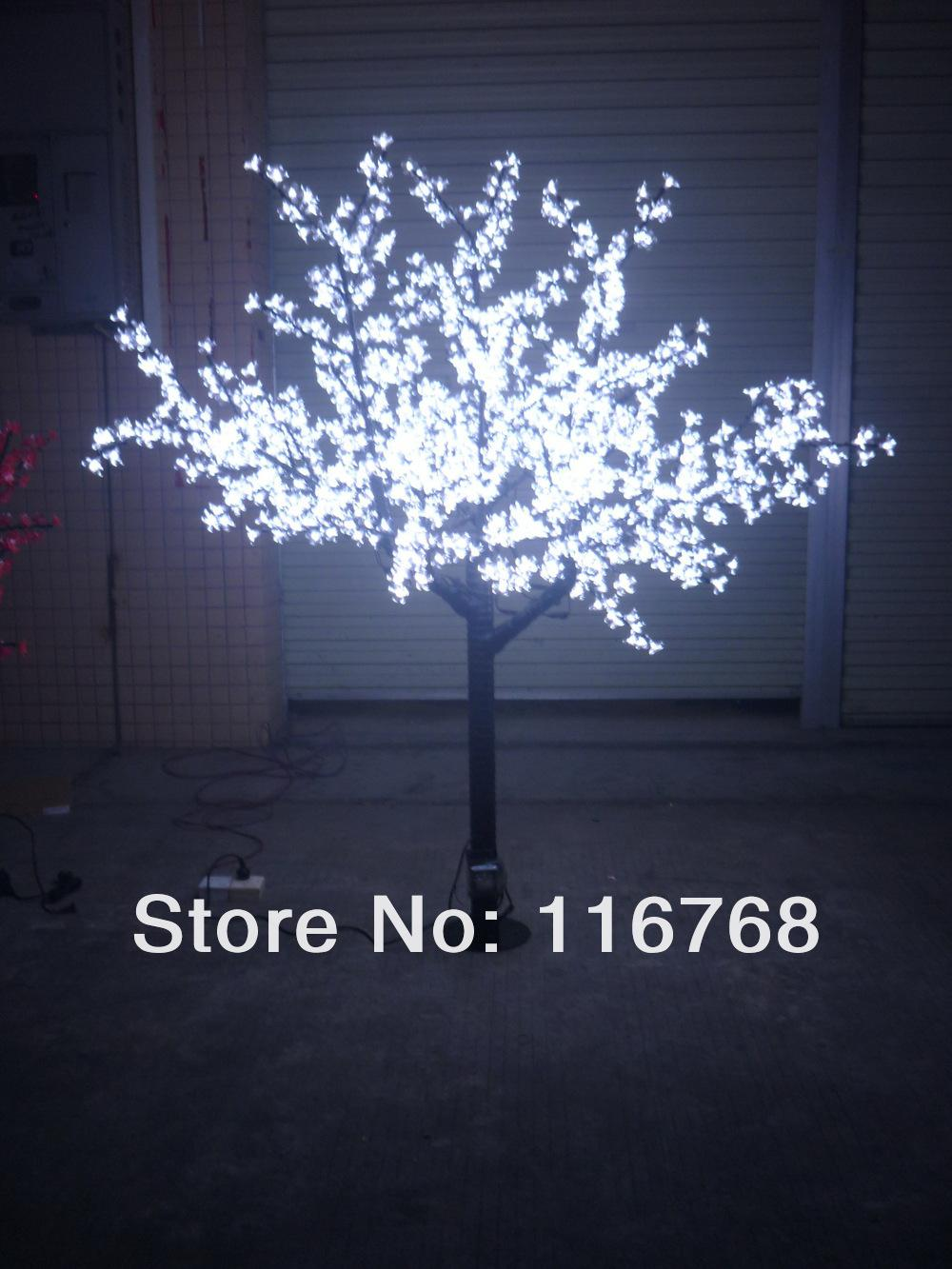 2019 2m Pure White Led Lighted Blossom Trees Artificial