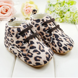 Wholesale Antiskid Shoes - Wholesale - Thickening leopard baby boots baby shoes toddler shoes soft bottom Antiskid shoes babyshoes 6 pairs l