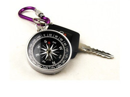 Wholesale Mini Compass Keychain - Wholesale - Free shipping mini compass compass New Mini Lensatic Compass Keychain