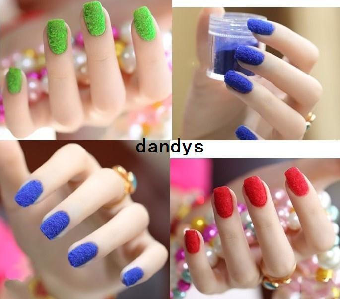 New Fashion Color 3d Nail Art Flocking Powder Nails Velvet Art Sets ...