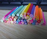 Wholesale Diy Nail Art Flowers - Free shipping Fashion Nail Art Fruit and Flower Decoration Slice Rod Stick Cane DIY+free blade