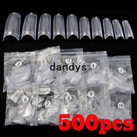 Wholesale Makeup Art - 500pcs Clear French Acrylic Artificial False Half Fake Nail Art Tips Makeup DIY