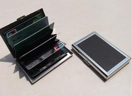 Бизнес ID кредитной карты бумажник держатель кожа из нержавеющей стали металлический корпус коробка горячее надувательство прохладный держатели карт C0895 от Поставщики оптовые держатели визитных карточек