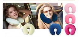 Argentina La asombrosa memoria versátil almohada de espuma Masaje de cuello Viajar en forma de U almohadas saludables Envío gratuito cheap u neck massage Suministro
