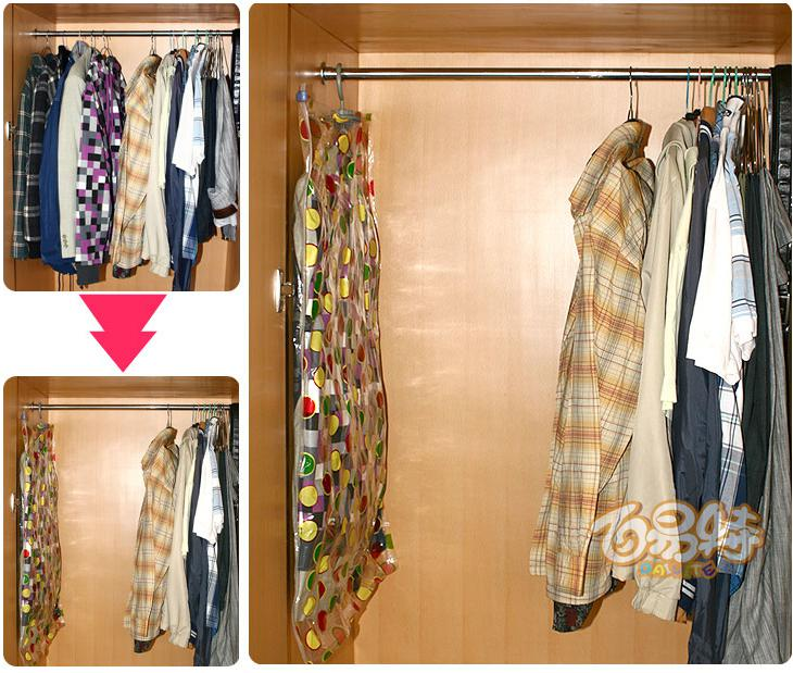 Vácuo vácuo-selo Armazenamento Pendurado sacos, decodificador Wardrobe. Saco do traje espacial 60 * 90