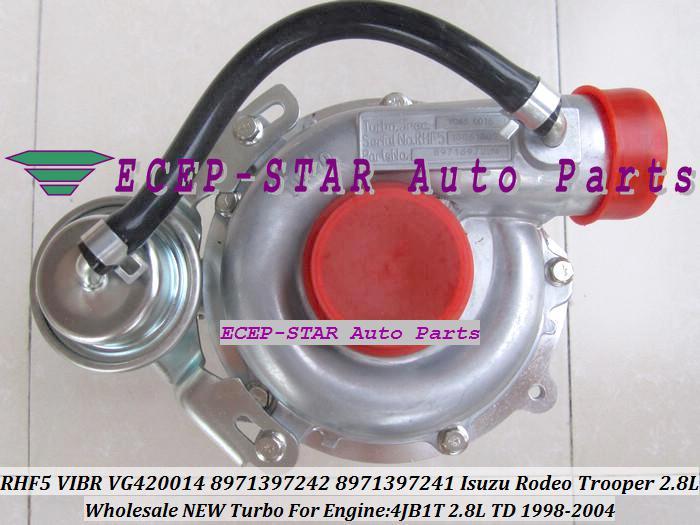 RHF5 VIBR 8971397243 VA420014 VG420014 8971397242 8971397241 Turbo Turbine Turbocharger For Isuzu Rodeo Trooper 1998-04 4JB1 4JB1T 2.8L TD