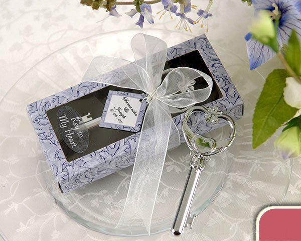 Vente en gros - / ouvre-bouteille «clé à mon coeur» Faveurs de mariage cadeau pour les invités de mariage
