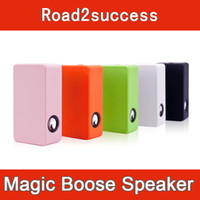 Wholesale Cheapest Iphone Speakers - Cheapest Magic Boose Near-Field Audio Interaction Amplifying Speaker for iPhone 4 4S Android Smartphone free shipping