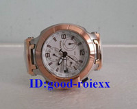 Wholesale Ladies Rose Gold Chronograph Watch - Factory Seller Luxury Woman's Chronograph T Race Watch Ladies Swiss Quartz Rose Gold White Rubber Watches Ladys Sports Wristwatches