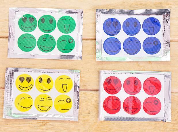 Adesivo repellente il campeggio Smiling Face Best Zanzara Repellente naturale Patch insetto protegge