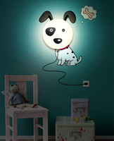 Wholesale Dog Wall Lamp - Spotted Dog Night Light Lamp DIY 3D Wallpaper Novelty Cartoon Wall Stickers Lamp for Kid's Bedroom Home Decor Decoration