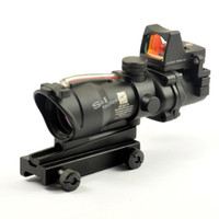 Wholesale 4x32 Rifle Scope - Trijicon ACOG Style 4X32 Fiber Source Red Illuminated Scope w  RMR Micro Red Dot