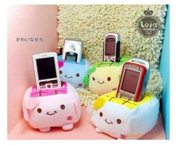 Wholesale Phone Holder Tofu - Min. Order 15$, Plush Stuffed Toy Japan Tofu Cellphone Holder Case Mobile Phone Holder Case Car Decoration Holders Pouch Bag