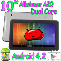 "Wholesale Dual Core Jelly Bean - 10"" Dual Core Allwinner A20 Android 4.2 Jelly Bean 1GB 8GB Capacitive Touch Screen Tablet PC Play Store HDMI Wifi Camera 2Pcs"