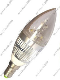 Wholesale Dimmable Led Candle Bulb 3w - MHJA70 E14 12W Warm white 4*3W LED Dimmable Candle Light bulb lamp Downlight