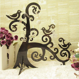 Metal Jewelry Gift Tree Canada - Tree Metal Jewelry Display Stand Earring Holder Necklace Hanging Gifts Crafts