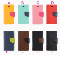 Wholesale Galaxy S3 Cases For Cheap - colorful Mercury wallet card slots flip leather case cover skin shell for Galaxy S3 MINI mini i8190 cheap flip cover case