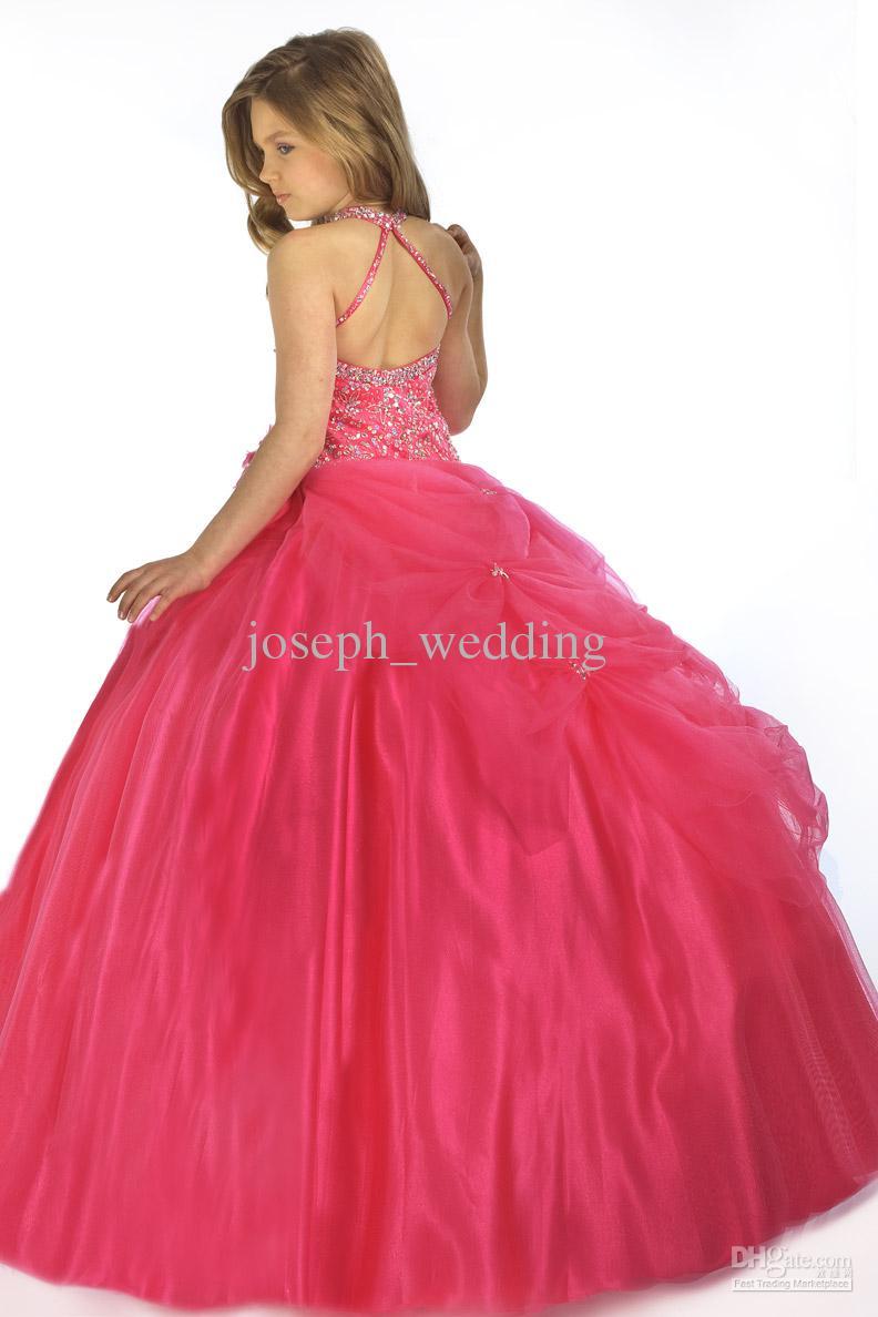 Дети дети glitz красота горячий красный кекс бальное платье без рукавов органзы маленькая девочка pageant платья для продажи ZFD-039