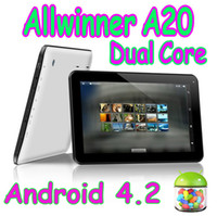 10 pouces Allwinner A20 Dual Core tablette PC MID Boxchip Android 4.2 1 Go de RAM 8 Go ROM Capacitive Touch Google Play Store HDMI Wifi Camera