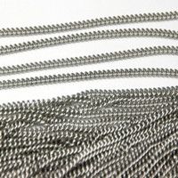 Wholesale Thin Polished Stainless - Sales promotion !10 meter Fashion polishing silver Stainless Steel thin 2mm cowboy chain.jewelry finding no clasp.DIY necklace In bulk