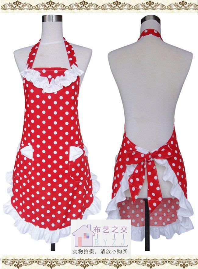latest design cotton cloth apron korean aprons the fashion polka