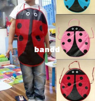 Wholesale Ladybug Kids Kitchen - Minimum Order 15USD; Super Kawaii Cartoon Ladybug Children Kitchen Apron Waterproof PVC Children Aprons Kid Pinafore Play Aprons