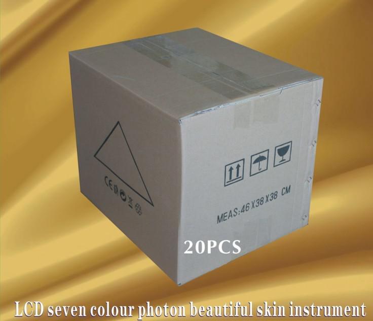 Couleur ultrasonique de la machine de rajeunissement de peau de photon de 3MHZ 7 LED