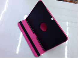 Smart rotary leather caSe online shopping - 360 Degree Rotary Leather Case Cover Stand for Samsung Galaxy Tab P5200 P5220
