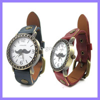Wholesale Mustache Watches - Vintage Beard Mustache StylishAnalog Quartz Wrist Watch vikec wristwatch