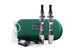 Wholesale Ee2 Kits - New eGo EE2 e cigarette 650mAh 900mAh portable leather with E cigarettes zipper case ee2 kit