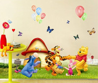 Wholesale Tigger Pooh Wall - new fashion My Friends cartoon Tigger&Pooh Winnie Dance party sticker Home Decor Room children Kids
