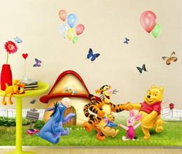 Wholesale Tigger Pooh Wall - new fashion My Friends cartoon Tigger&Pooh Winnie Dance party sticker Home Decor Room children Kids