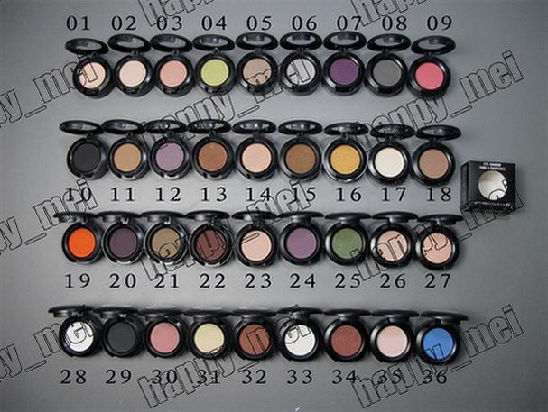 Factory Direct DHL Free Shipping New Makeup Eyes 1.5g Eye Shadow Without Mirror And Brush!36 Different Colors