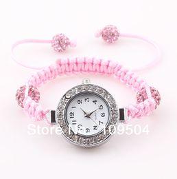 Wholesale Crystal Ball Bracelet Watch - 2013 NEW Children Shamballa Watch Baby Crystal Disco Ball Bracelet Wrist Watches For Kids Free Shipping ZW2