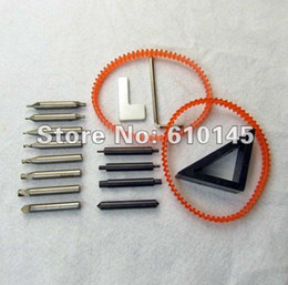 Wholesale Gun Part Spare - the whole set cutters with spare part for vertical key cutting machine end mill cutter Auto Lock Pick Gun Hooks Kit Set Open Car Door