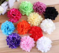 Wholesale Cheap Fancy Tops - Flower Headband Accessories Fancy Lace Hairband Mulit Color DIY Baby Flower Headbands Top Quality Cheap Price 50PCS LOT Free Shipping