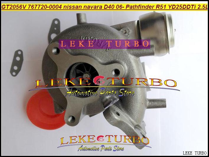 GT2056V 767720-004 767720 767720-5004S 14411-EB70B 769708 14411-EB70Aターボ用日産D40 Navara Pathfinder R51 YD25 YD25DDTI 2.5L 171HP