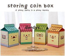 Wholesale Wholesale Diy Coin Banks - Freeshipping! New creative milk DIY storing coin box   piggy bank   money saving box   Multifunction   Wholesale
