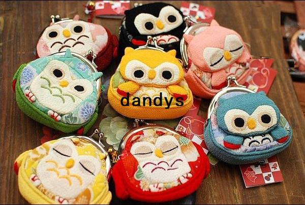 Livraison gratuite / nouveau style mignon Owl petit portefeuille portable / porte-monnaie multifonction / style japonais mignon / gros
