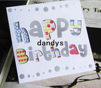 dulces tarjetas de felicitación al por mayor-Dulce deseo encantador para ti tarjeta de regalo de feliz cumpleaños / tarjeta de felicitación de Navidad impresa / regalo para niños / FreeShipping / Venta al por mayor
