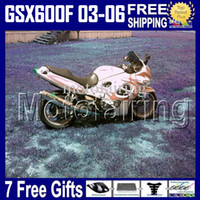 Wholesale Suzuki Gsxf Fairings - 7gifts Red flames not orange For SUZUKI KATANA 2003 2004 2005 2006 GSX600F GSXF 600 GSX 600F 2003-2006 HR1400 GSXF600 03 04 05 06 Fairing